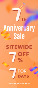 7th Anniversary Sale 7% Off