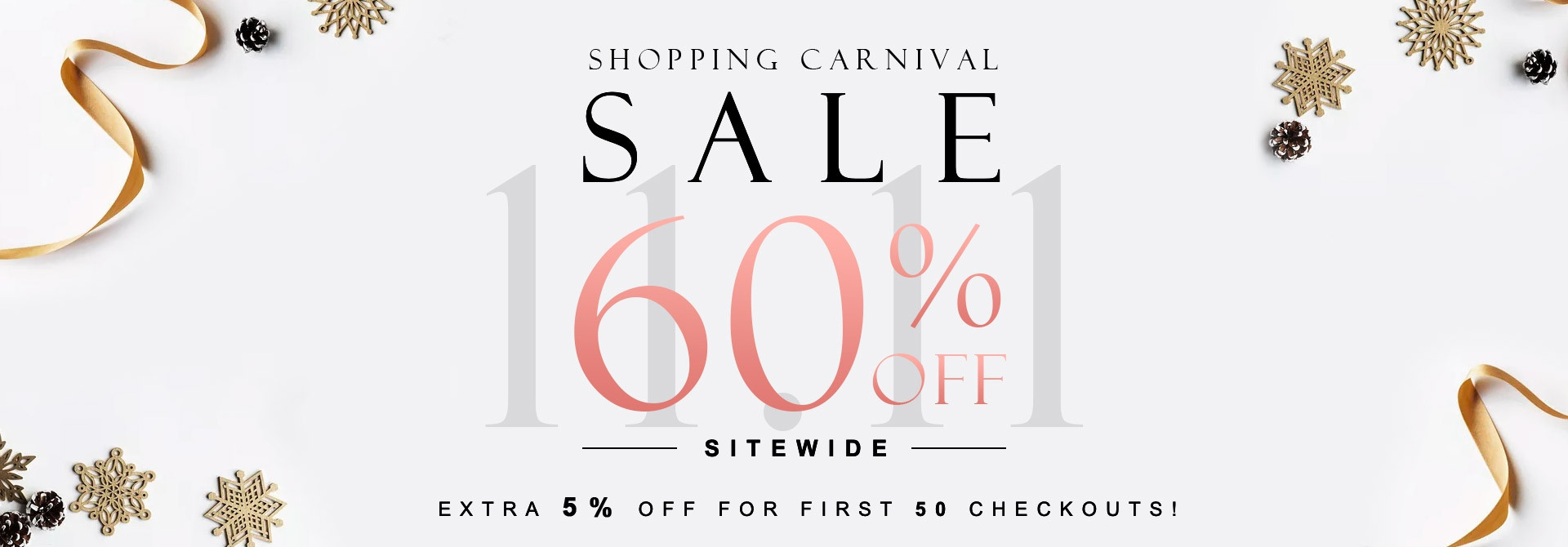 Carnival Sale (extra 5% off)